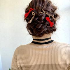 ショート ゆるふわ 簡単ヘアアレンジ ヘアアレンジ ヘアスタイルや髪型の写真・画像