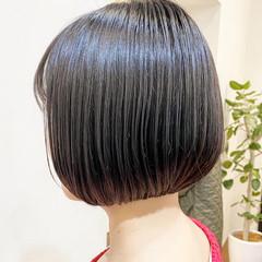 ショートボブ ボブ デート ナチュラル ヘアスタイルや髪型の写真・画像