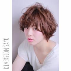 レイヤーカット マッシュ ナチュラル ショート ヘアスタイルや髪型の写真・画像