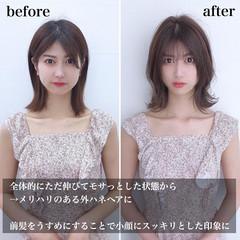 小顔 小顔ヘア 韓国風ヘアー 韓国ヘア ヘアスタイルや髪型の写真・画像