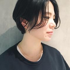 無造作パーマ ショート ハンサムショート アンニュイほつれヘア ヘアスタイルや髪型の写真・画像