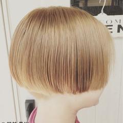 ショートボブ モード ブラウン ボブ ヘアスタイルや髪型の写真・画像
