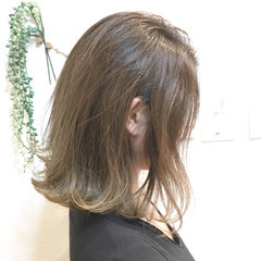 外国人風カラー グラデーションカラー デート ボブ ヘアスタイルや髪型の写真・画像