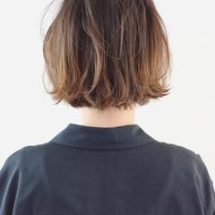 ストリート ミニボブ バレイヤージュ グラデーションカラー ヘアスタイルや髪型の写真・画像