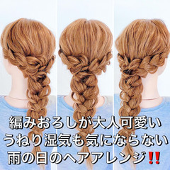 ヘアアレンジ ダウンスタイル フェミニン 簡単ヘアアレンジ ヘアスタイルや髪型の写真・画像