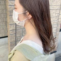 バイオレットアッシュ アメジスト アッシュバイオレット ナチュラル ヘアスタイルや髪型の写真・画像