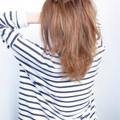 アッシュ ミディアム グラデーションカラー ハイライト ヘアスタイルや髪型の写真・画像