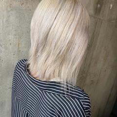 ボブ ブリーチカラー ショートヘア ストリート ヘアスタイルや髪型の写真・画像