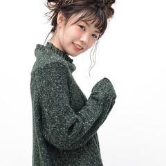 お団子 メッシーバン ショート 簡単ヘアアレンジ ヘアスタイルや髪型の写真・画像