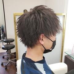 メンズパーマ パーマ メンズヘア ショート ヘアスタイルや髪型の写真・画像