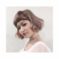 春 ハイトーン ベージュ ピンク ヘアスタイルや髪型の写真・画像