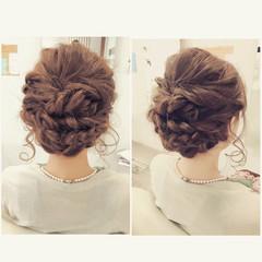 ゆるふわ フェミニン ヘアアレンジ ハーフアップ ヘアスタイルや髪型の写真・画像