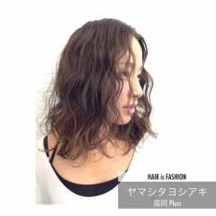 ベージュ アッシュ ボブ 冬 ヘアスタイルや髪型の写真・画像