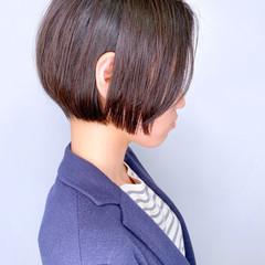 ミニボブ ナチュラル ショートボブ ボブ ヘアスタイルや髪型の写真・画像