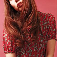 前髪あり ロング ショートバング ニュアンス ヘアスタイルや髪型の写真・画像