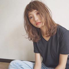 ミディアム ストリート 外国人風 ショートバング ヘアスタイルや髪型の写真・画像