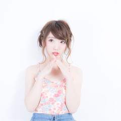 簡単ヘアアレンジ ピュア ショート ミディアム ヘアスタイルや髪型の写真・画像