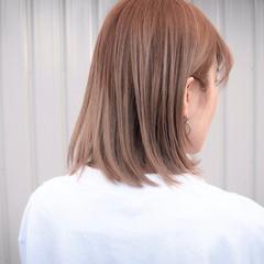 ミルクティーベージュ ブリーチ バレイヤージュ ブリーチカラー ヘアスタイルや髪型の写真・画像