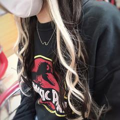 ストリート ハイトーン エクステ ハイライト ヘアスタイルや髪型の写真・画像