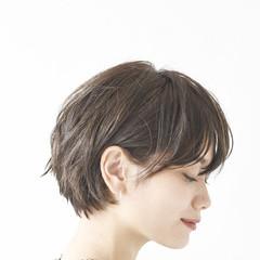 ショートボブ 黒髪 ショート コンサバ ヘアスタイルや髪型の写真・画像