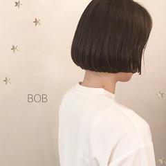 パーマ 簡単 ボブ ナチュラル ヘアスタイルや髪型の写真・画像
