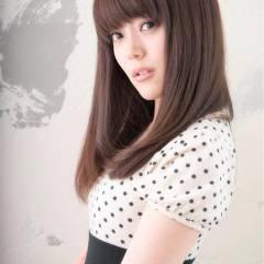 卵型 コンサバ ストレート ナチュラル ヘアスタイルや髪型の写真・画像