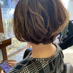 ママヘア イメチェン ナチュラルグラデーション ママ ヘアスタイルや髪型の写真・画像
