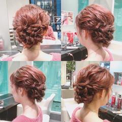 ミディアム 簡単ヘアアレンジ 上品 ゆるふわ ヘアスタイルや髪型の写真・画像