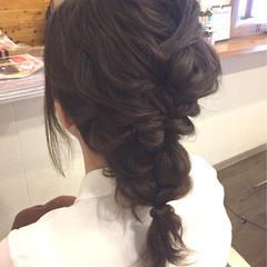 大人かわいい 編み込み フェミニン ヘアアレンジ ヘアスタイルや髪型の写真・画像