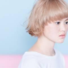 ストリート 外国人風カラー ボブ 春 ヘアスタイルや髪型の写真・画像