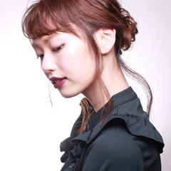 セミロング 艶髪 ヘアアレンジ ショート ヘアスタイルや髪型の写真・画像