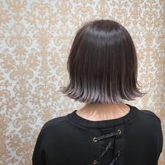 ラベンダーアッシュ ボブ 外国人風 ニュアンス ヘアスタイルや髪型の写真・画像