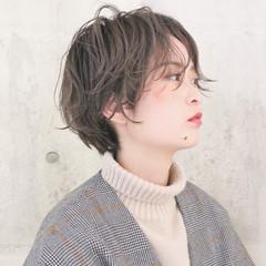 ハンサムショート 成人式 ショートボブ アンニュイほつれヘア ヘアスタイルや髪型の写真・画像