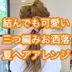 セルフヘアアレンジ ロング 簡単ヘアアレンジ ポニーテール ヘアスタイルや髪型の写真・画像