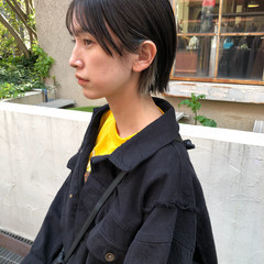 ミントアッシュ ミニボブ アッシュ ナチュラル ヘアスタイルや髪型の写真・画像