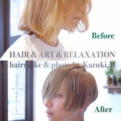坊主 大人女子 モード 刈り上げ ヘアスタイルや髪型の写真・画像