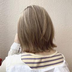 ミルクティーベージュ ガーリー ボブ ミニボブ ヘアスタイルや髪型の写真・画像