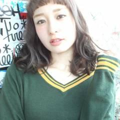 ストリート ミディアム 愛され ナチュラル ヘアスタイルや髪型の写真・画像