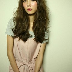 ロング ハイライト モード 大人女子 ヘアスタイルや髪型の写真・画像