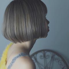 大人女子 ニュアンス ガーリー ボブ ヘアスタイルや髪型の写真・画像
