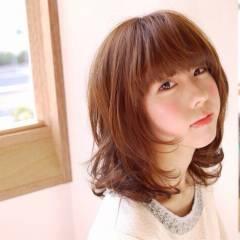 ミディアム ゆるふわ モテ髪 コンサバ ヘアスタイルや髪型の写真・画像
