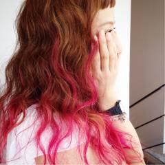 卵型 ガーリー ロング モテ髪 ヘアスタイルや髪型の写真・画像