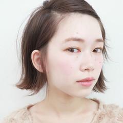 透明感 ボブ ナチュラル 冬 ヘアスタイルや髪型の写真・画像