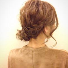 編み込み モテ髪 愛され ヘアアレンジ ヘアスタイルや髪型の写真・画像