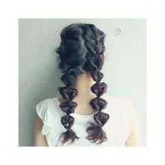 簡単ヘアアレンジ ショート ロング 外国人風 ヘアスタイルや髪型の写真・画像