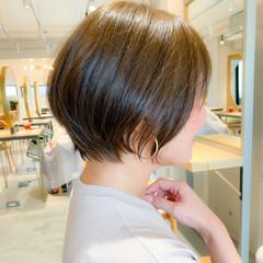 ショート ショートボブ 大人かわいい アウトドア ヘアスタイルや髪型の写真・画像