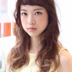 セミロング モテ髪 フェミニン ガーリー ヘアスタイルや髪型の写真・画像