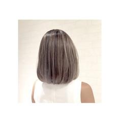 渋谷系 ボブ ハイライト ストリート ヘアスタイルや髪型の写真・画像