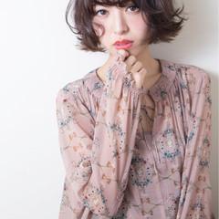 イルミナカラー 大人かわいい ボブ フェミニン ヘアスタイルや髪型の写真・画像