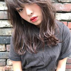 外国人風 透明感 セミロング 秋 ヘアスタイルや髪型の写真・画像